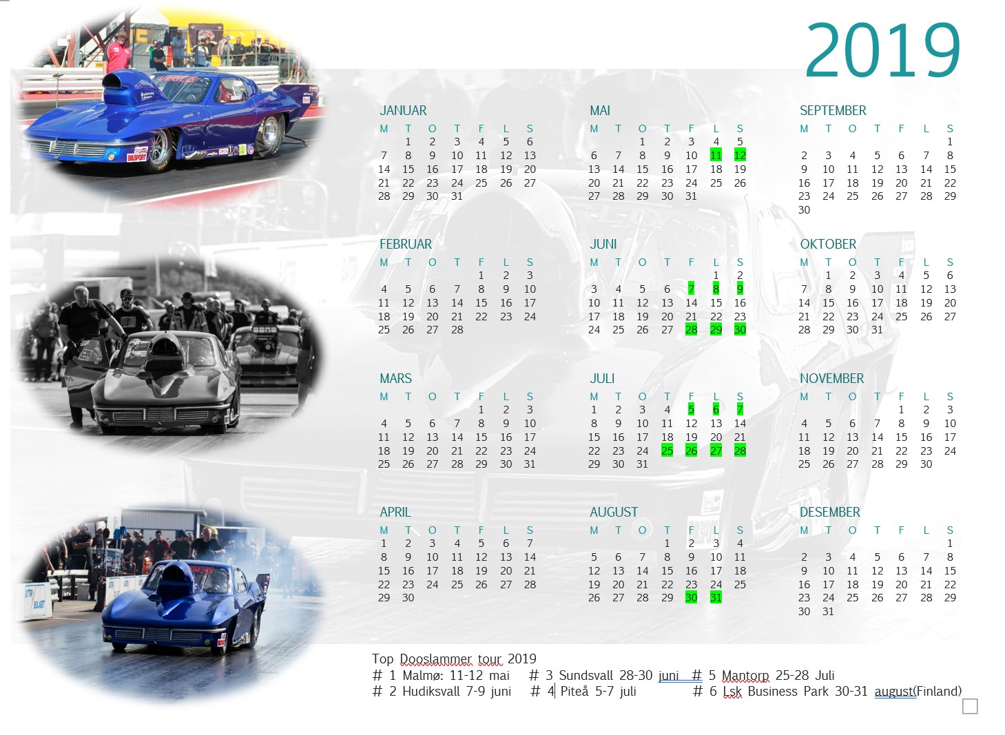 Kalender-bumblebeebay Racing Team