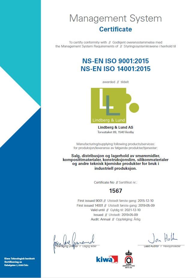 isosertifikat 9001:2015 14001:2018